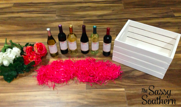 How To Make a Mommy Milestone Wine Crate Basket
