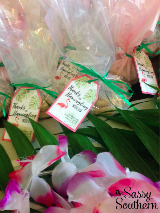 Tropical Baby Shower Favors