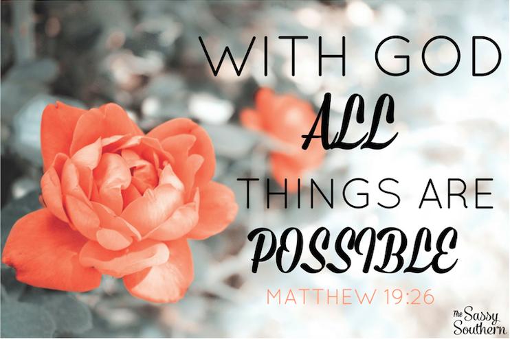 Scripture Verse Matthew 19:26