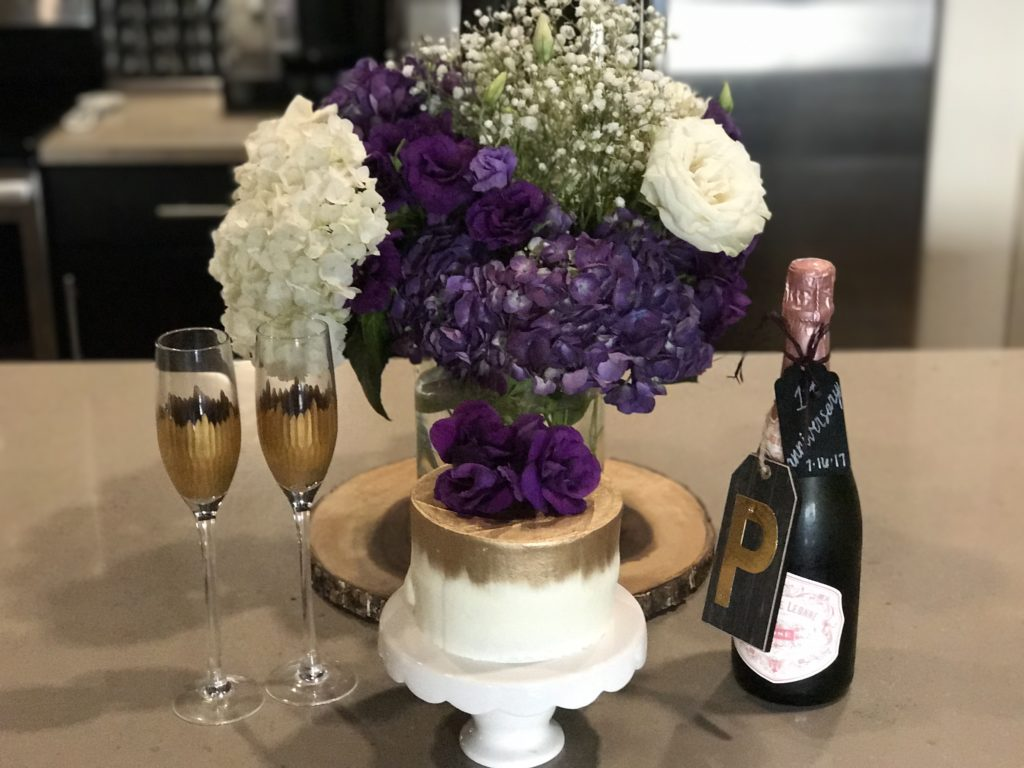 Wedding Day Toasting Flutes in Home Decor