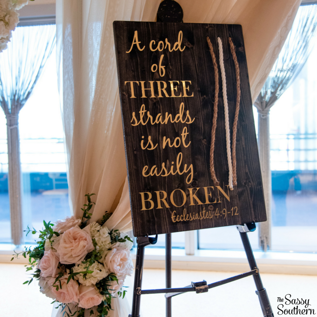 Unity Ceremony Idea for a Christian Wedding - Home Decor