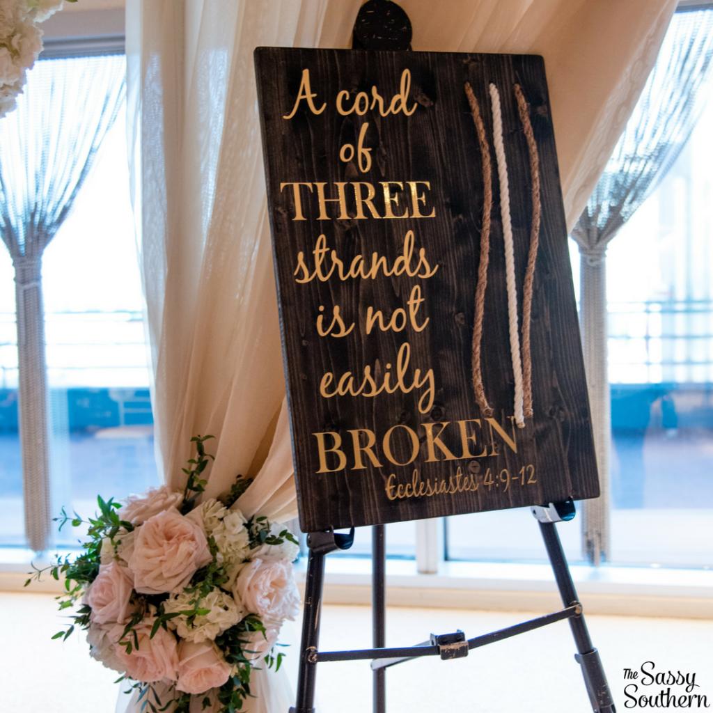 Unity Ceremony Idea for a Christian Wedding - Home Decor