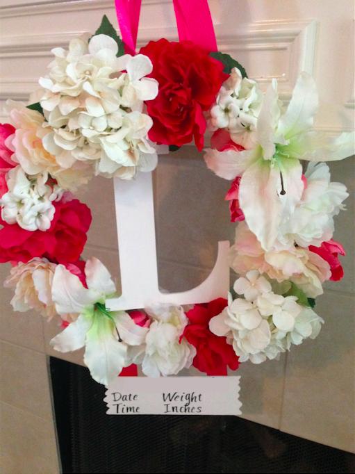 Floral Hospital Door Hanger