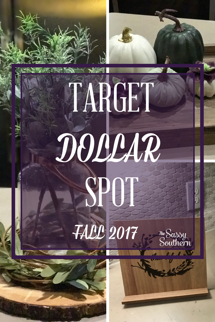 Fall 2017 target dollar spot home d cor the sassy southern Target fall home decor
