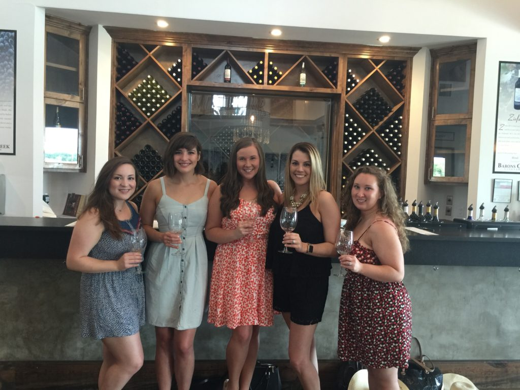 Bachelorette Party in Fredericksburg Texas - Barons Creek Vineyards