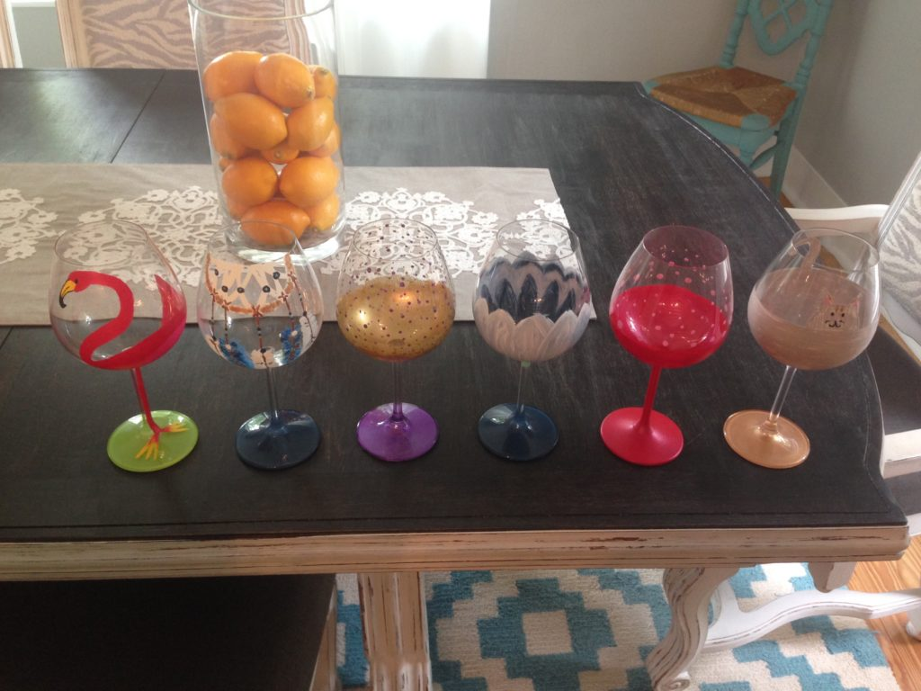 DIY Paint Your Own Wine Glasses Craft - Bachelorette Party Ideas