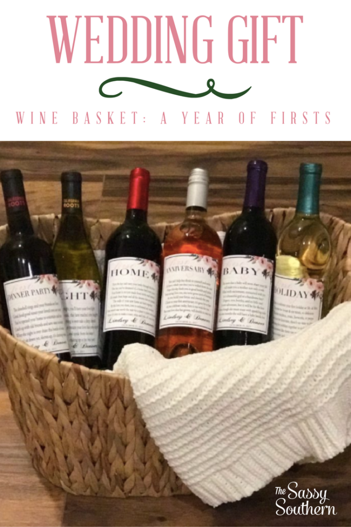 Wedding GIft Wine Basket