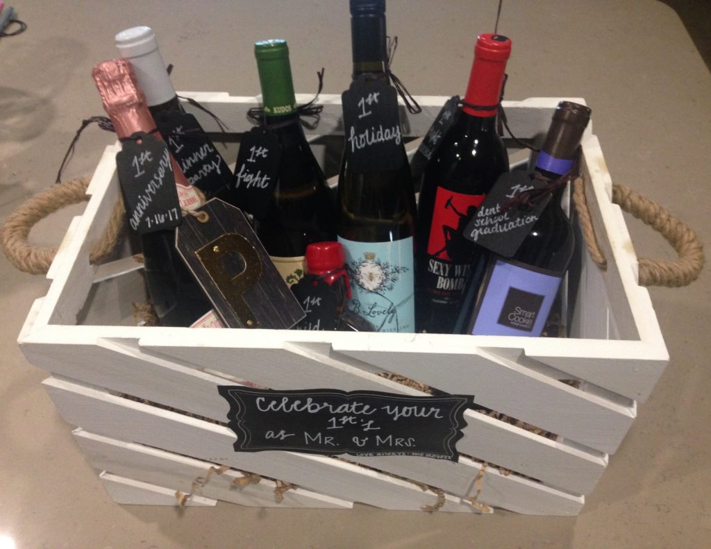 Wedding Wine Basket