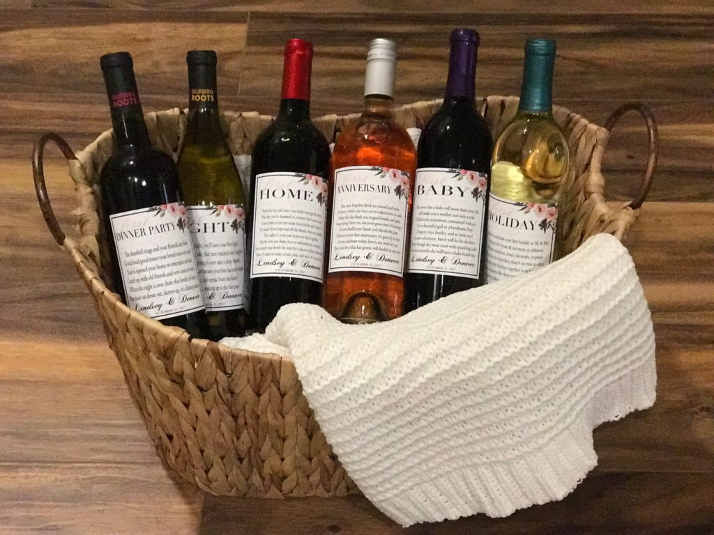Wedding Wine Basket - A Year Of Firsts