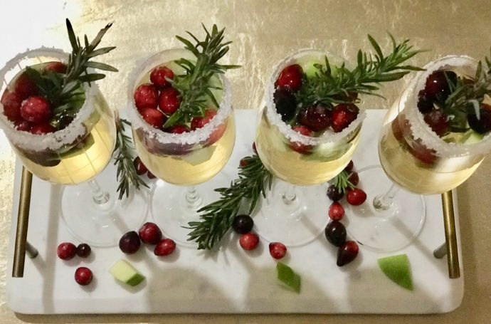 Christmas Sangria Holiday Cocktail