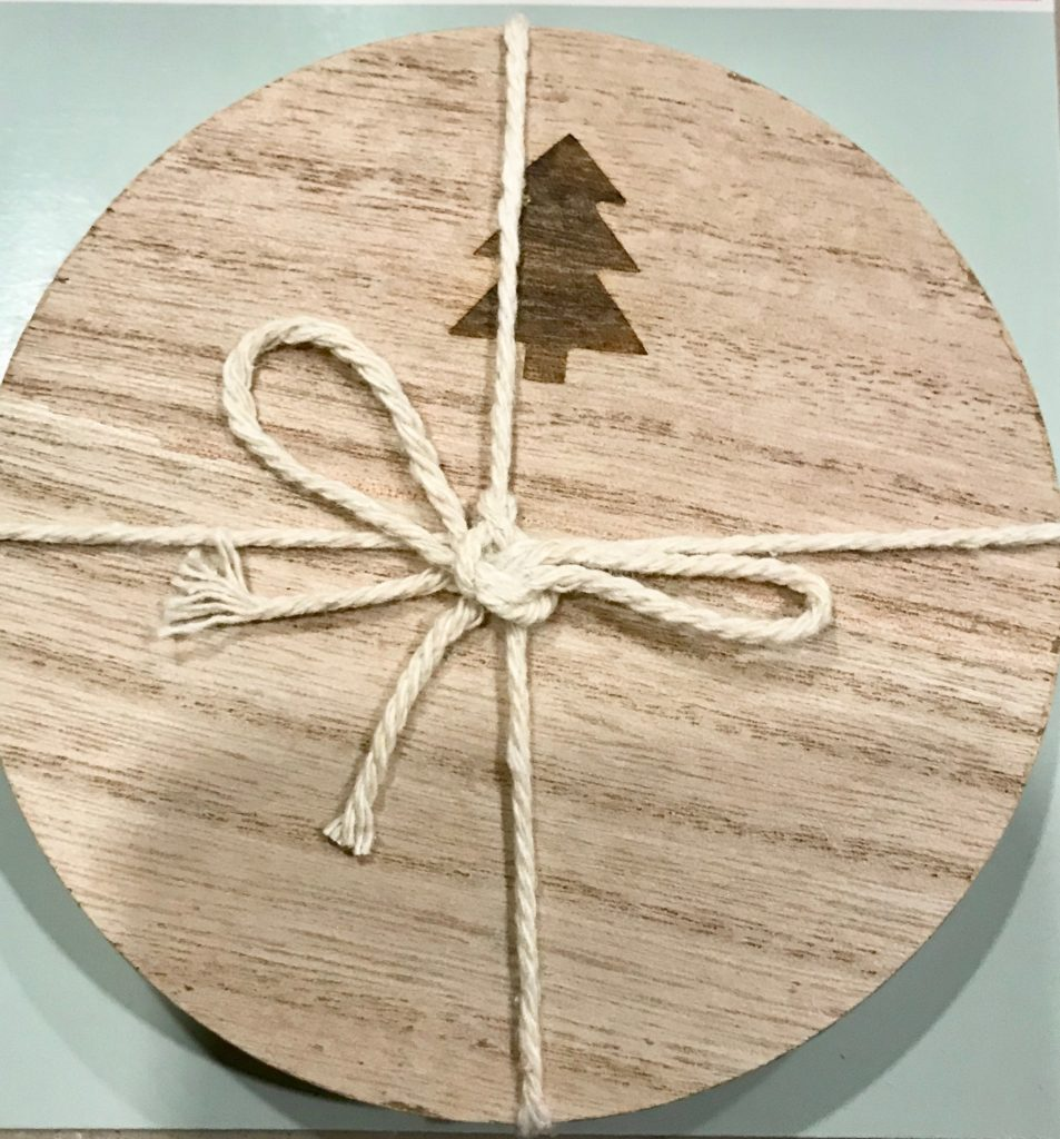 Christmas Tree Wooden Coasters