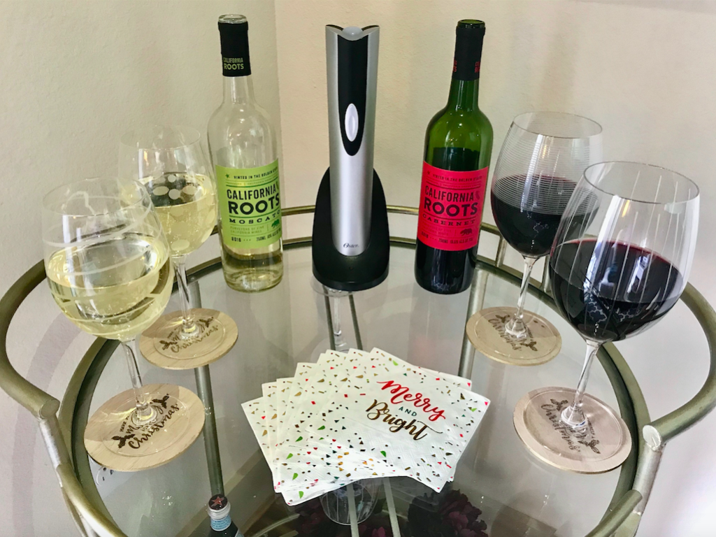 Electric wine opener and Wine Glasses
