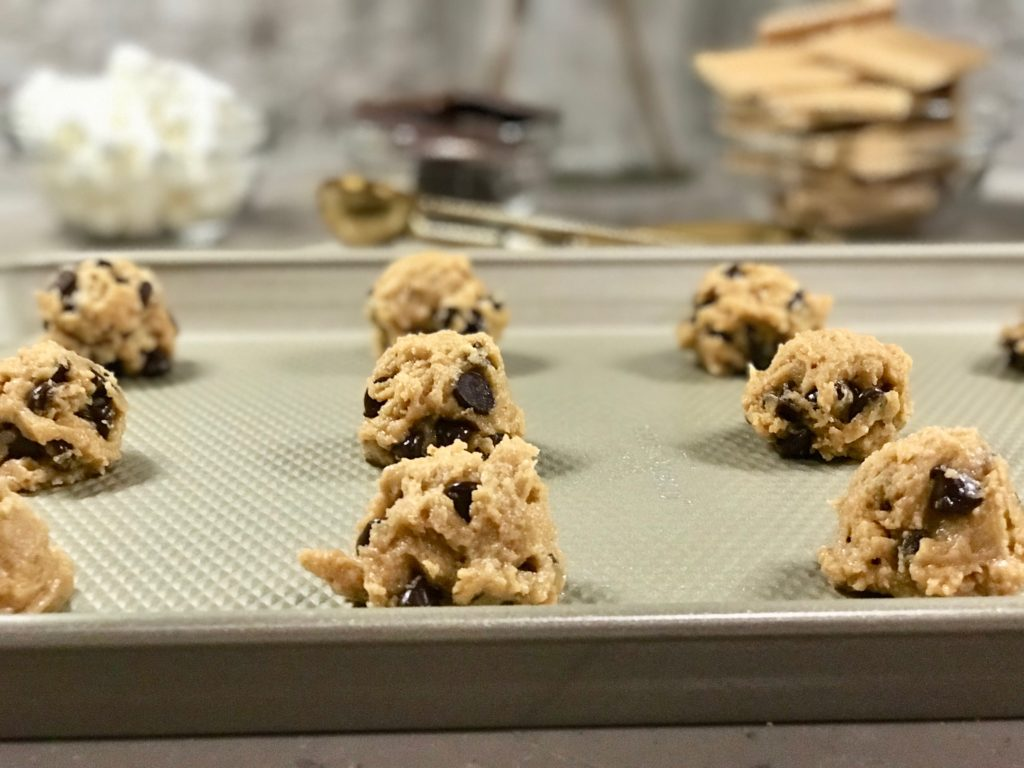 Gold Cookie Sheet - S'mores Chocolate Chip Cookie Recipe