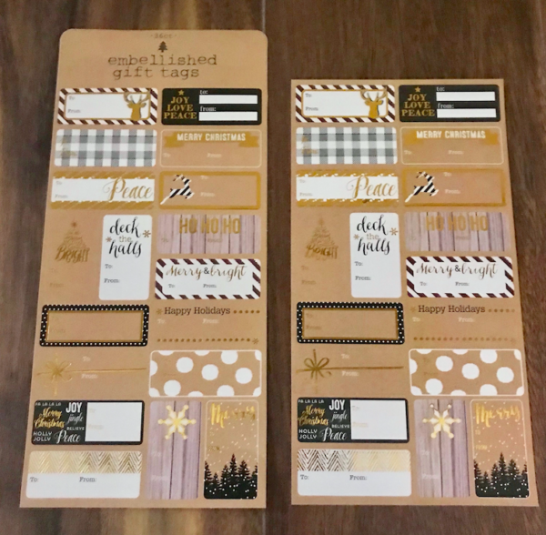 Target Dollar Spot Christmas Packaging