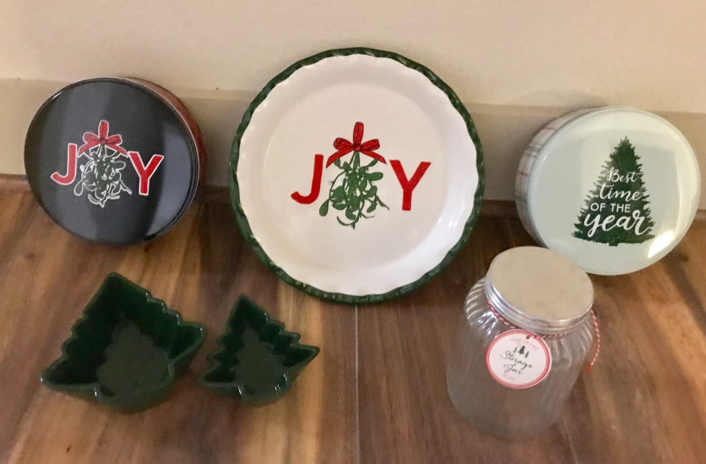 Target Dollar Spot Holiday Baking Tins