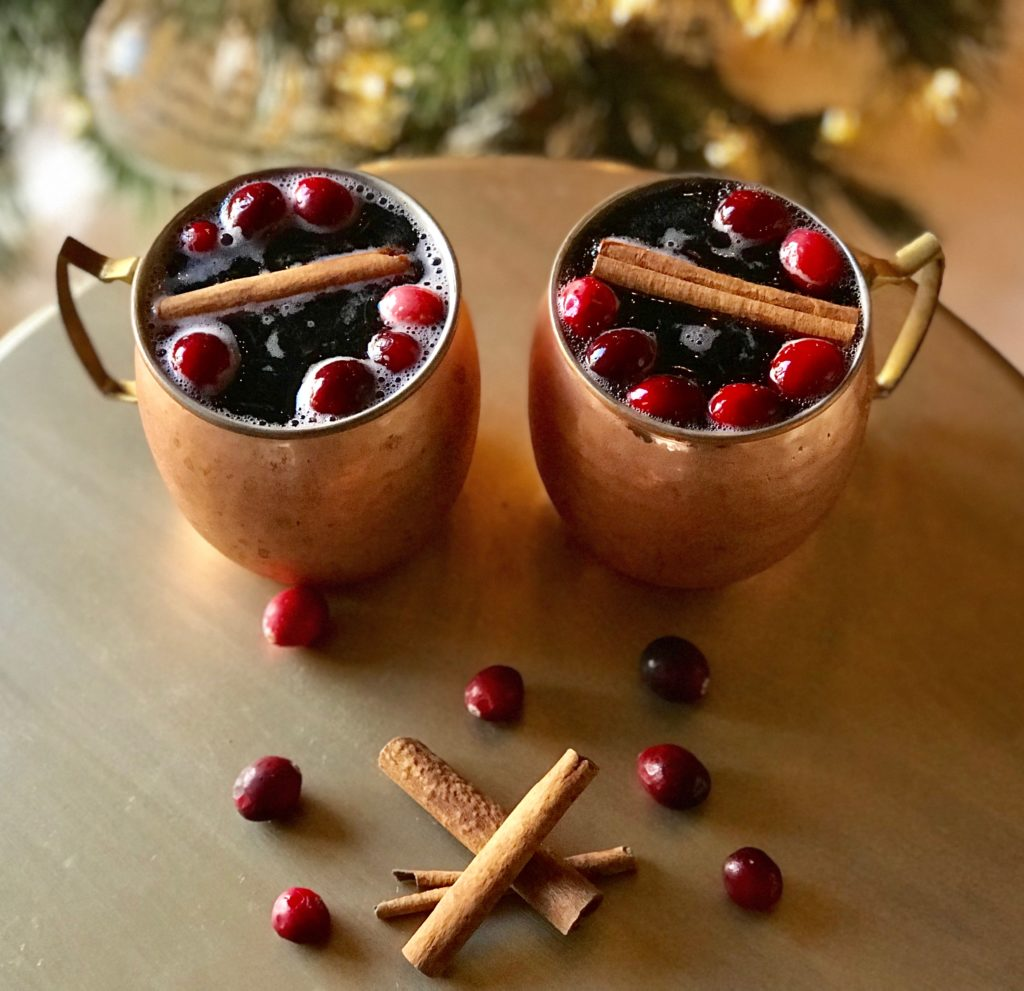 Cinnamon Apple and Cranberry Cocktail