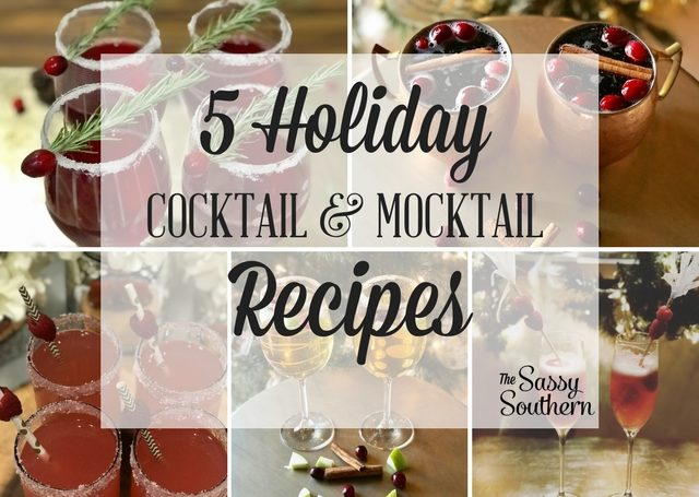 Holiday Cocktail and Mocktail Recipes