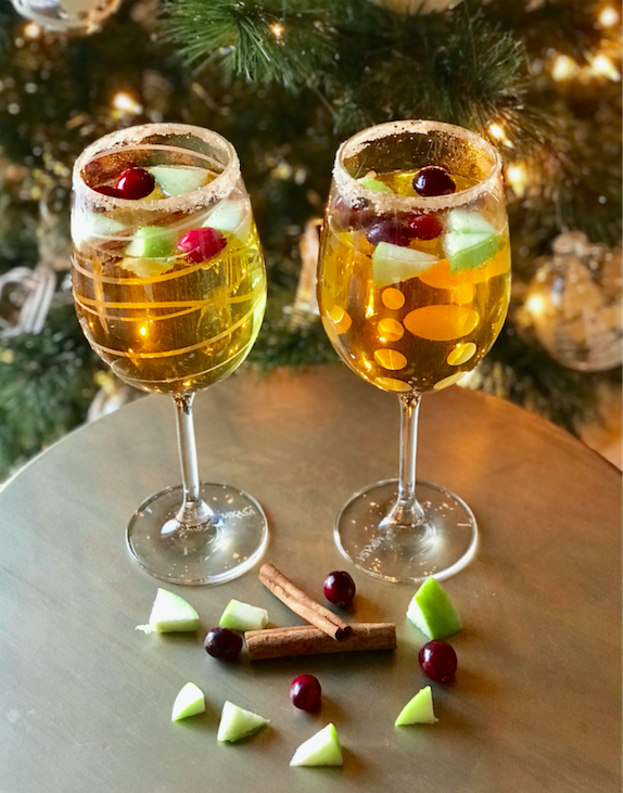 Holiday Mocktail Sparkling Cider Recipe