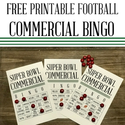 Football Commercial Bingo