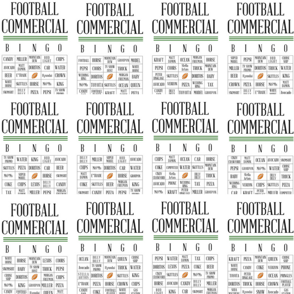 photograph about Printable Super Bowl Bingo Cards referred to as Absolutely free Soccer Industrial Bingo Printables The Sy Southern