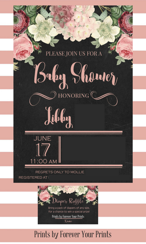 Baby Shower INvitations by Forever Your Prints
