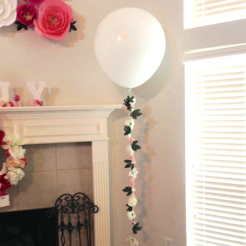 Floral Balloon String