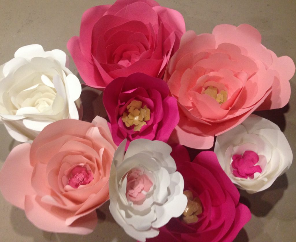 Paper Flower Baby Shower Decor