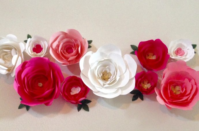 Baby Shower Paper Flower Decor