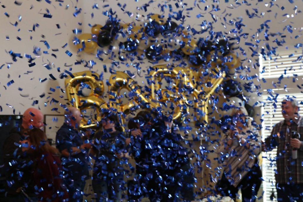 Blue Confetti Cannon Gender Reveal