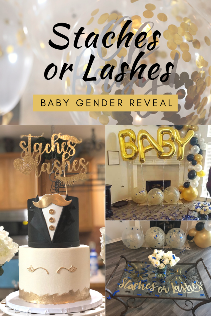 Staches or Lashes Gender Reveal