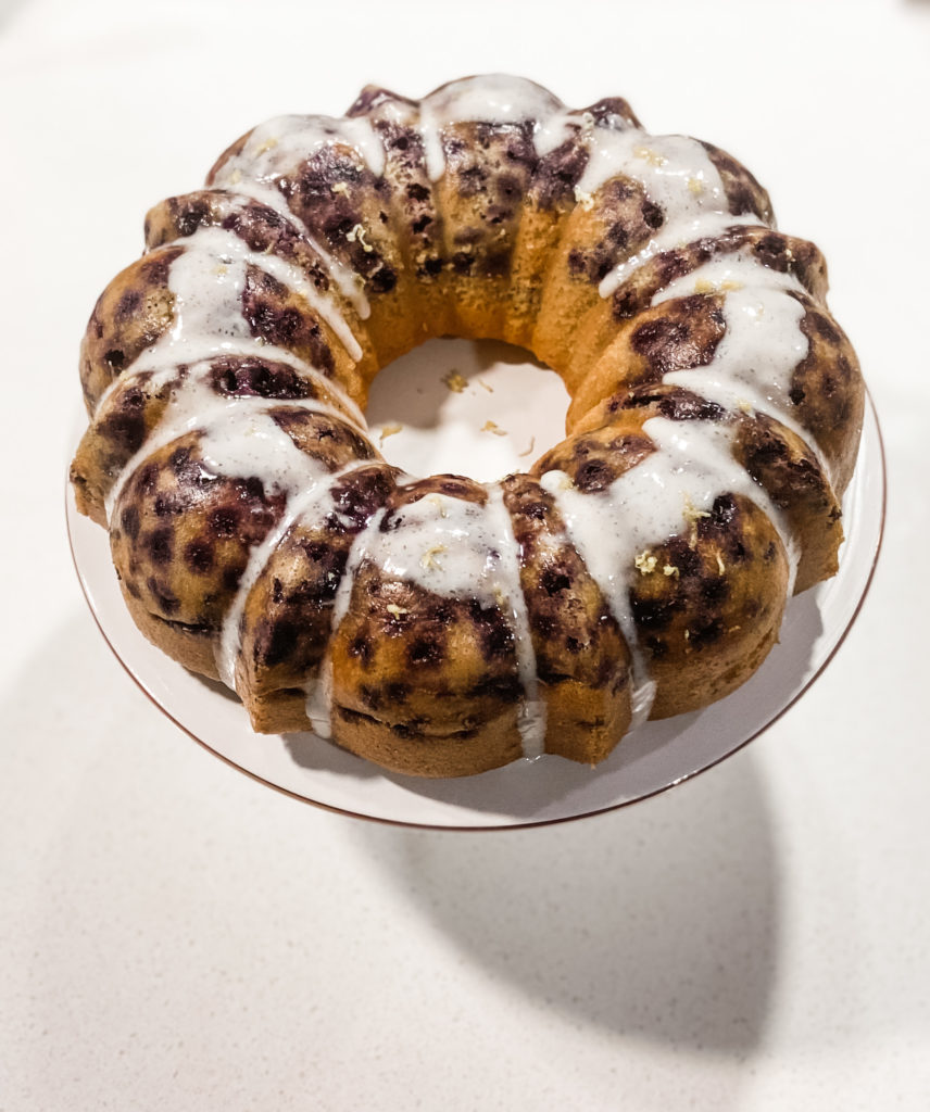 Mother's Day Lemon Blueberry Bundt Cake Recipe