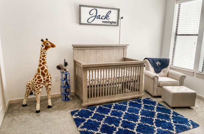 Safari Themed Boy's Nursery