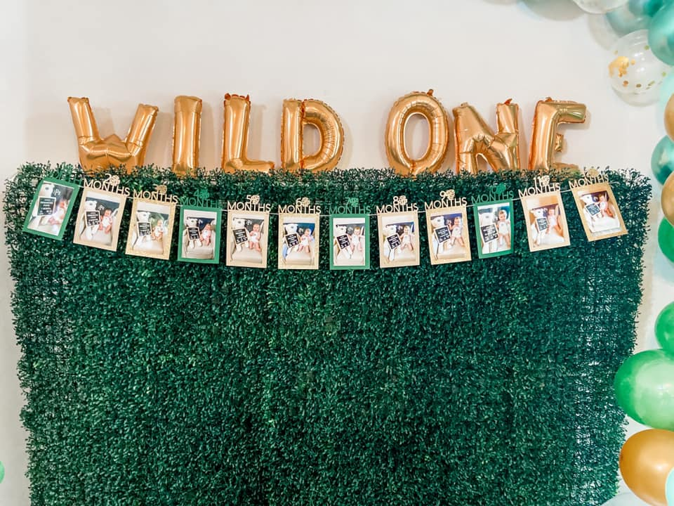 MILESTONE SAFARI BIRTHDAY BANNER