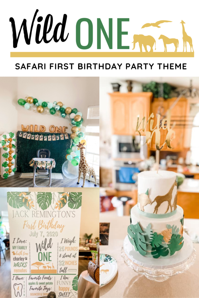 Wild One Safari First Birthday Party Decor